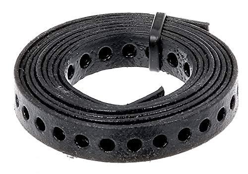 GAH-Alberts 334222 Lochband | mit oder ohne Abrollkasette | schwarz kunststoffbeschichtet | Breite 20 mm | Länge 1,5 m