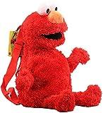Sésamo - Mochila de peluche con diseño de Monstruo de las Galletas 3D de dibujos animados, 45 cm, rojo, small,