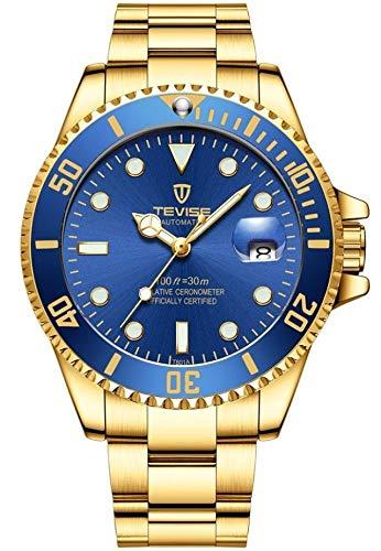 Sconosciuto Tevise T801 oro con quadrante blu