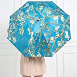 weichuang Regenschirm Faltbarer winddichter Regenschirm Van Gogh Ölgemälde Regenschirm Sonnenschirm Weiblicher Regenschirm Outdoor Sonnenschutz Regenschirm (Farbe: C1)
