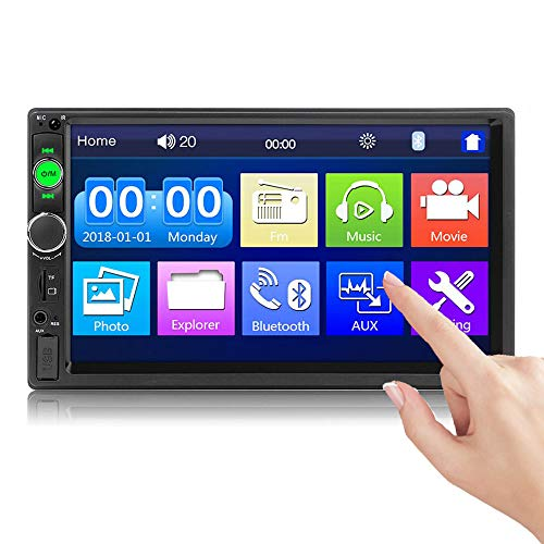 Bluetooth 2 Din Autoradio 7010B 7-Zoll-Touchscreen Mirror Link für IOS/Android Phone FM Radio MP5 Autoplayer USB SD AUX-Eingang