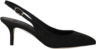 Dolce & Gabbana Black Brocade Slingbacks Buckle Shoes