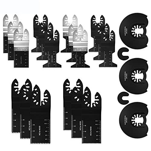 23 unids Hojas de sierra oscilantes Multi herramienta Lanzamiento rápido Cuchillas de sierra circular Conjunto para kit de corte de metal Corte de corte de accesorios de sierra oscilante by WEISHAN