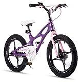 RoyalBaby Bicicletta per Bambini Ragazza Ragazzo Space Shuttle Bici Bicicletta da Bambino in magnesio 18 Pollici Viola