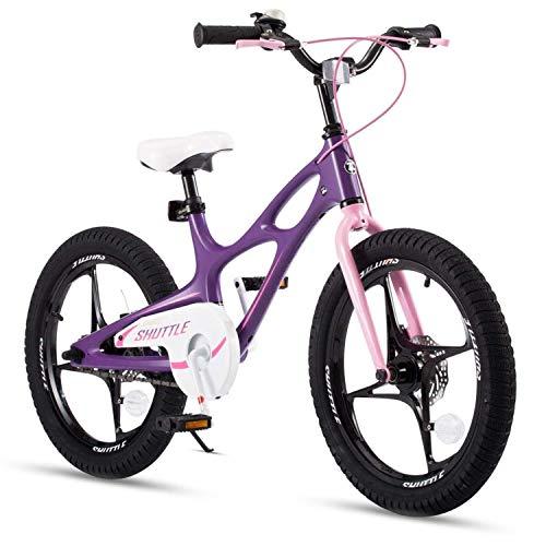 RoyalBaby Kinderfahrrad Jungen Mädchen Space Shuttle Magnesium Fahrrad Stützräder Laufrad Kinder Fahrrad 18 Zoll Violett