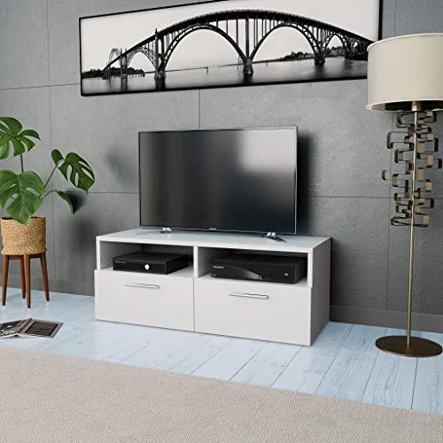 vidaXL Mobile Porta TV in Truciolato 95x35x36cm Bianco Mobiletto Arredo Salone
