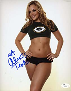 ALEXIS TEXAS HAND SIGNED JSA COA 8X10 PHOTO AUTHENTIC AUTOGRAPH GREENBAY PACKERS