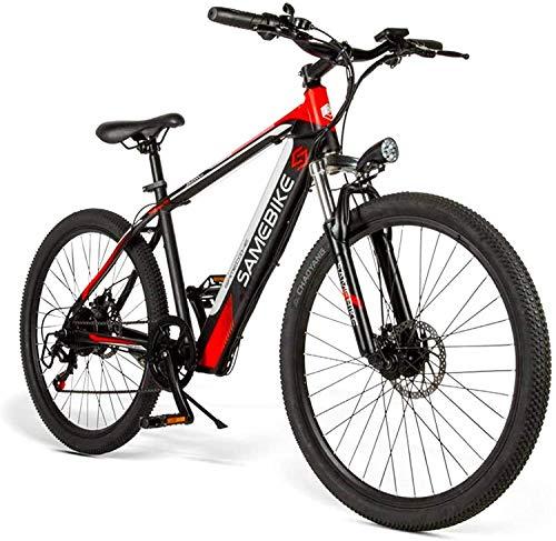 MQJ Ebikes Adulto 26 Pulgadas Bicicleta Eléctrica de la Montaña, E-Mtb Aleación de Magnesio 400W 48V Batería de Iones de Litio Extraíble All-Terreno 27-Velocidad Masculino Y Femenino Bicicleta
