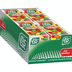 You will receive (12) 1 oz packs of Tic Tac fresh breath mints, Fruit Adventure (each pack contains 60 mints) Refreshment in a tiny mint Sweet, fun and flavorful – perfect anytime snack for kids and adults Made for on-the-go enjoyment anywhere Bulk i...