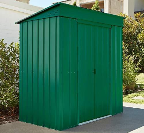 LOTUS Pent Metal Shed 5 x 3 Heritage Green, 5x3