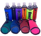 Blank Neoprene Water Bottle Coolies (Variety Color 10 Pack)