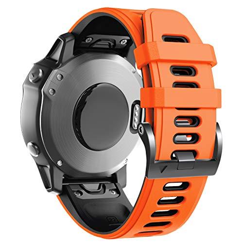 ANBEST Kompatibel mit 22mm Fenix 5 Armbänder Band, Weiches Silikon Armband für Fenix 5/Fenix 5 Plus/Fenix 6/Fenix 6 Pro/Forerunner 935/Forerunner 945/Approach S60/Quatix 5