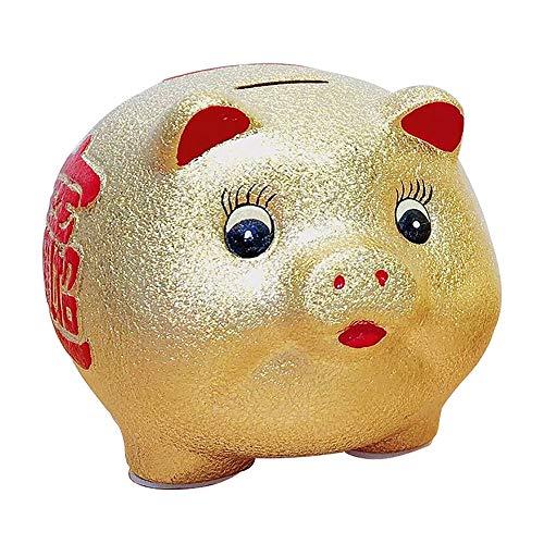 ZAKRLYB Piggy Bank recopila riqueza, material de galvanoplastia, monedas a prueba de gotas, dinero de papel, almacenamiento de cambios para niñas y niños, adecuado para restaurantes familiares, bares,