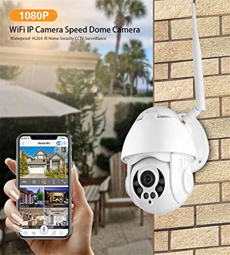 FTSUI WiFi IP-bewakingscamera 1080P Home Surveillance 2 miljoen 4X Zoom Outdoor waterdicht nachtzicht 2,5 inch kleine bal machine, Us