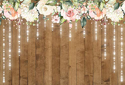 Photo Studio Props Floral Wooden Wall Wedding Backdrop Backdrop Vintage Wall Background Cloth Party Backdrop for Photography 3D Background Wall Customised Size Backdrop Background Backdrop