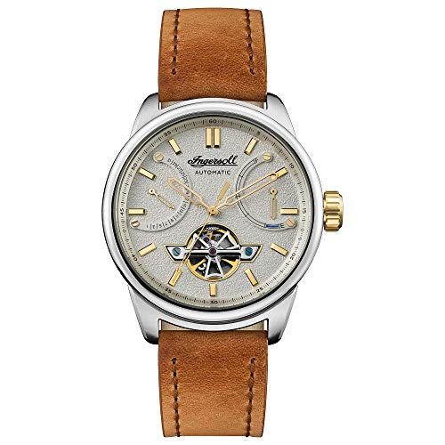 Ingersoll The Triumph Gents Automatic Watch I06702 with a Stainless Steel case and Genuine Leather Strap