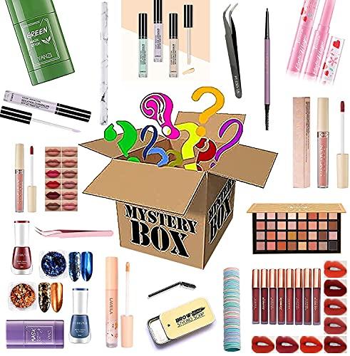 Mystery Box, Lucky Cosmetic Mysteries Box Lápiz labial, rubor y otros productos son un buen regalo. ¡Nada imposible! Lujoso, económico, muchos estilos, ¡dése una sorpresa! (A)