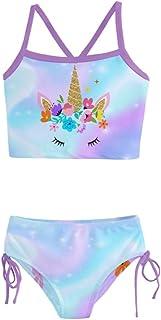 PattyCandy Fun Space Galaxy Unicorn Girls Tankini Swimsuit - 12