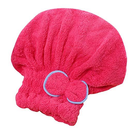 omdoxs Praktische Wasserabsorption trockenes Haar Cap Bow Dekoration Home Badezimmer Zubehör Einbauduschköpfe