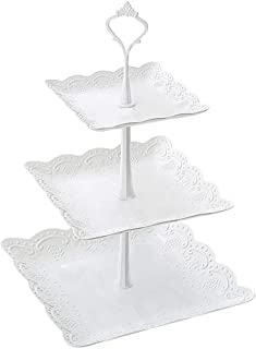 Dolloress 3 Tier Cupcake Display Stand Cupcake Holder Cupcake Tree Tower Dessert Stand Pastry Serving Platter for Wedding ...