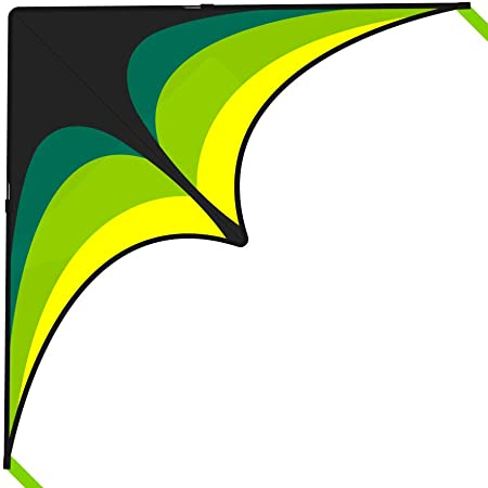 Stunning Colors Meticulously Designed and Tested Guarantee Single Line w//Tail Ribbons Easy Fly for Kids and Beginners Large Best Delta Kite Bonuses