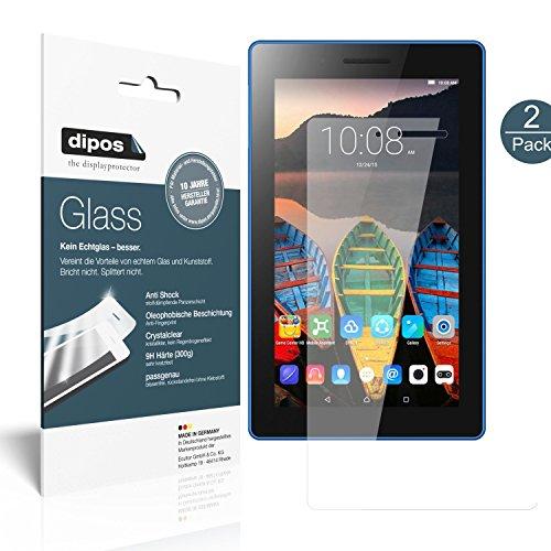 dipos I 2X Protector de Pantalla Compatible con Lenovo Tab 3 7 Essential TB3-710F Vidrio Flexible Cristal Proteccion 9H