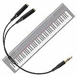 DURAGADGET Práctico Divisor De Auriculares para Teclado/Piano Eléctrico Yamaha NP-V80 NPV-80, Yamaha P-105B, Yamaha P-115B, Yamaha P-115WH, Yamaha P-45B - con Conexión De 3.5mm