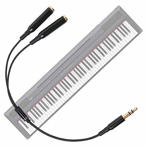 DURAGADGET Práctico Divisor De Auriculares para Teclado/Piano Eléctrico Yamaha NP-V80 NPV-80, Yamaha...