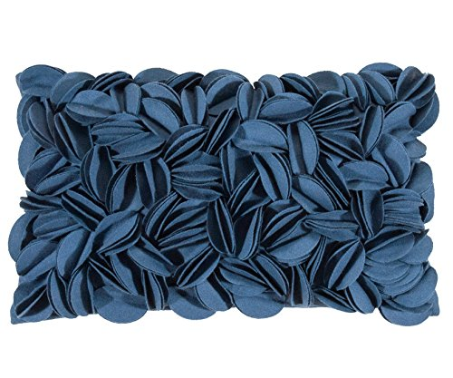 Pad - DOROTHY - Kissenhülle - Kissenbezug - Zierkissen - blue / blau - Applikationen - 30 x 50 cm