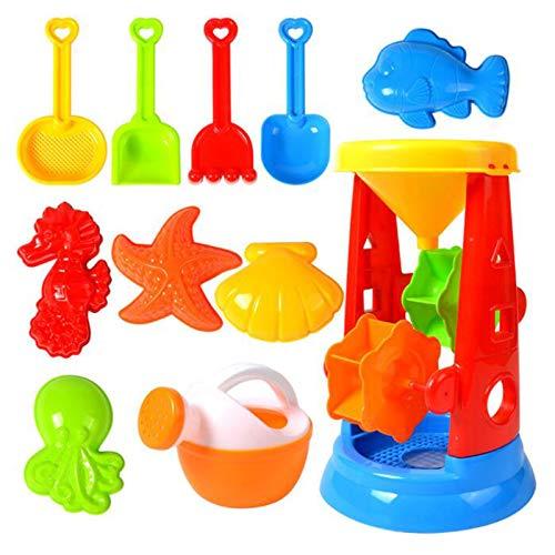 YUI Sandspielzeug Eimergarnitur Wasserspielzeug Meerestiersandmodell Sand Strand Spielzeug Mehrteiliger Anzug Schaufel, Eimer, Vierradspielzeug