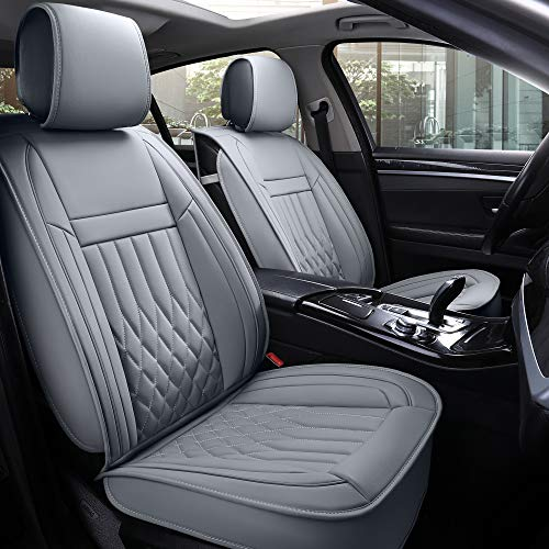 car seat cover leather grey - 1