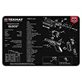 TekMat Tapis pour Le Nettoyage avec Eclaté Glock Gen4 (Gris) - 43x28cm