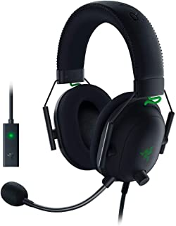 Razer BlackShark V2 Gaming Headset: THX 7.1 Spatial Surround Sound - 50 mm Drivers - Detachable Mic - برای PC ، PS4 ، نینتندو سوییچ - جک هدفون 3.5 میلی متری