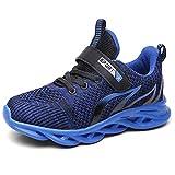 TUDOU Zapatillas deportivas unisex para niños, zapatillas de deporte, para exteriores, transpirables, ligeras, para correr, para interiores, para niños y niñas, 29-39, color Azul, talla 33 EU
