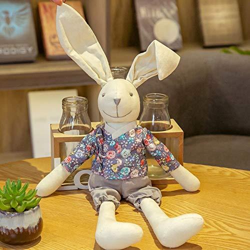 FGRSD Kawaii Pareja Peluche Conejo Juguete Animal muñeca para niñas Peluche Conejo muñeca para niños casa Juguetes para niños cumpleaños Regalos 40cm B
