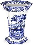 Spode Blue Italian Hexigonal Vase