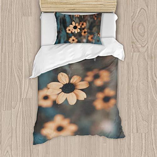 Juego de ropa de cama para niña, funda de almohada de 50 x 80 cm, funda nórdica de 135 x 200 cm, 119% algodón