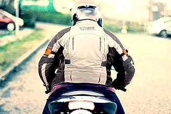 Jet Blouson Veste Moto Homme Imperméable Avec Armure Textile Gris Argenté