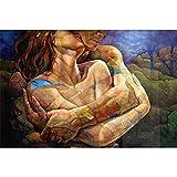 YINGXIN134 Puzzles para Adultos 2000 Piezas - Rompecabezas para Adultos - Pareja abrazadora Juego de Rompecabezas Grande 2000 Piezas Obsequios de Arte para Adultos, Adolescentes, familias, 70x100cm