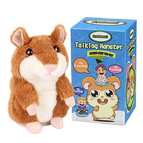 Ayeboovi Toddler Toys Talking Hamster Repeats What You Say Educational Talking Toy Repeating Hamster Toy Gift for Boys and Girls