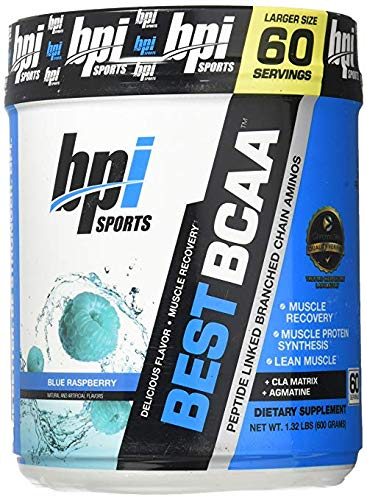 Bpi Sports Best BCAA, Blue Raspberry, 60-Count