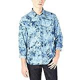 American Rag Men's Tie Dye Denim Shirt Blue Small