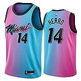 Photo de NQI Jersey de Tyler Herro Tyler pour Hommes pour Hommes, Miami Heat 21 Saison Nouveau Jersey de Basket-Ball Adulte T-Shirt T-Shirt Débardeur de Vacances (S-XXL) M