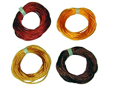 2mm Rattail Satin Cord for Kumihimo 4 6 Yard Pieces 24 Yards Per Package - Earthtones Mix