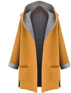 neveraway Women's Split Oversized Dust Coat Hoode Fall Winter Duffle Coat