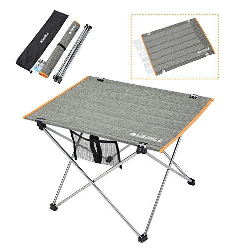 Yahill® Campingtisch Alu Klapptisch Aluminium ideal Reisetisch Falttisch Gartentisch klappbar Tisch für Camping Outdoor Picknick BBQ Wandern Reise Angeln Urlaub in Tasche tragbar(Polyester Deckung- L)
