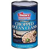 BUMBLE BEE SNOW S Ocean Chopped Clams, Gluten Free Food, High Protein, Bulk, 51 Ounce Can
