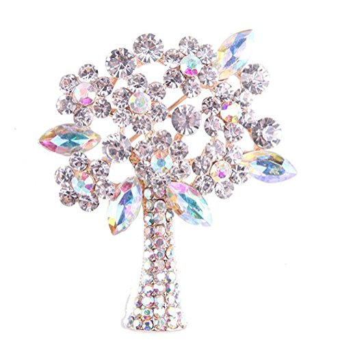Dosige Form broche Christmas Tree and Pins Party of Rhinestone for Clothes, Clothing, Wedding Gifts, Gifts Of Christmas