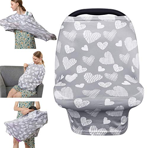 Nursing Cover Breastfeeding Scarf - Baby Car Seat Covers,...