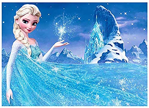 ACANDYL Paint by Number Frozen Elsa DIY Painting Paint by Number Kit for Kids Adults DIY Canvas Painting by Numbers Acrylic Painting Arts Craft for Home Wall Decoration Paint by Number Disney 16x20 In